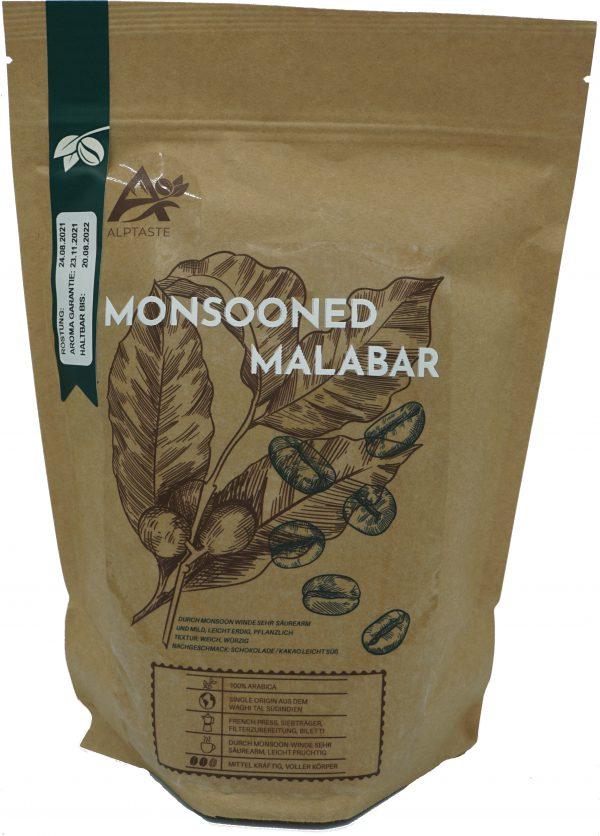 Kaffeepackung Alptaste Monsooned Malabar